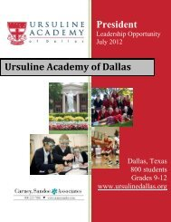 President Ursuline Academy of Dallas