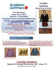 June 15 - Ursuline Academy of Dallas