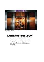 Lärarhäfte Plåta 2009 - Helsingborgs Dagblad