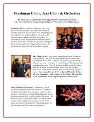 Freshman Choir, Jazz Choir & Orchestra - Ursuline Academy of Dallas