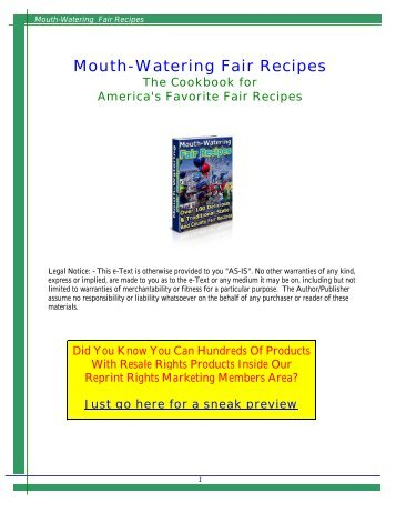 Mouth-Watering Fair Recipes - DDV Culinary