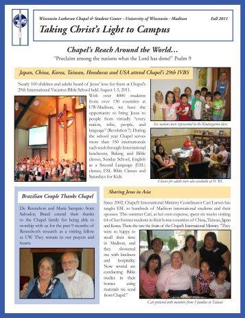 Fall 2011 - Wisconsin Lutheran Chapel