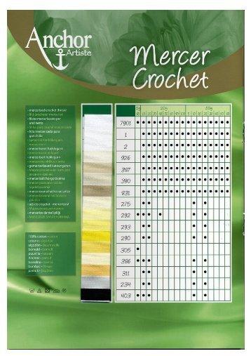 Ladda ner färgkartan för Anchor Artiste Mercer Crochet (pdf) - Coats