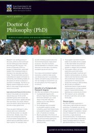 PhD - School of Agricultural and Resource Economics - The ...