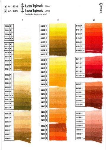 Ladda ner färgkartan för Anchor Tapisserieull (pdf) - Coats