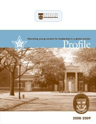 75369 Ursuline Profile.indd - Ursuline Academy of Dallas