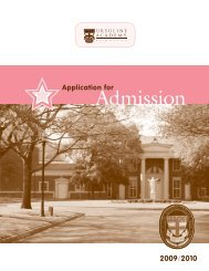 Application for - Ursuline Academy of Dallas