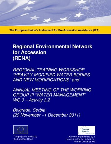 Workshop Report and 2nd Annual, Water Management, Nov ... - RENA