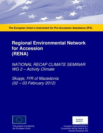 Regional Environmental Network for Accession ... - Renanetwork.org