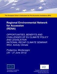 Podgorica ReCAP 26-27 June 2012 WS ... - Renanetwork.org
