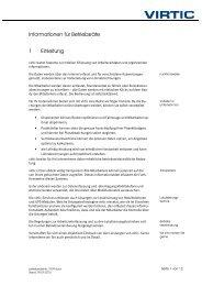 Informationen für Betriebsräte 1 Einleitung - virtic