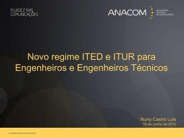 Regime jurídico ITED e ITUR - Workshop ITED ITUR