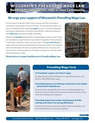 WISCONSIN'S PREVAILING WAGE LAW - IUOE Local 139