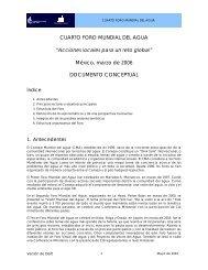 """CUARTO FORO MUNDIAL DEL AGUA """"Acciones locales ... - Aneas"""
