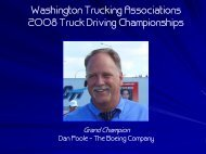 Washington Trucking Associations 2008 Truck Driving Championships