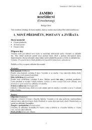 ROZŠÍŘENÍ (Erweiterung) 1. NOVÉ PŘEDMĚTY, POSTAVY A ...