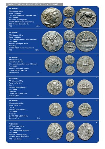 COLLECTION OF ROMAN REPUBLICAN COINAGE
