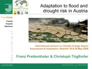 Adaptation to flood and drought risk in Austria - VATT