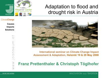 flood and drought Flood and drought the associated programme on flood management (apfm) and the integrated drought management programme (idmp) are joint initiatives of the world.