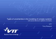 Types of uncertainties in modeling of complex systems - VATT