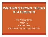 Linda -- 2003 Thesis Statement