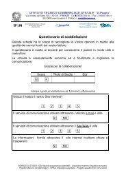 Questionario finale docenti - Peano