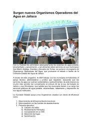 Surgen nuevos Organismos Operadores del Agua en Jalisco - Aneas