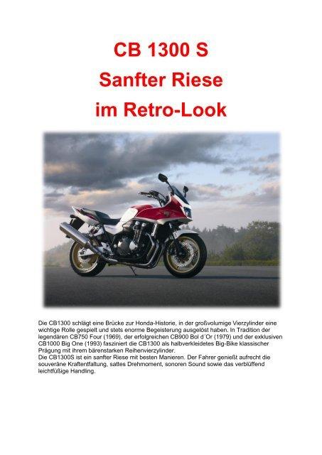 CB 1300 S Sanfter Riese im Retro-Look - Auto Stahl