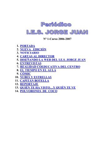 Nº1 Nov. 2006 - IES JORGE JUAN / San Fernando
