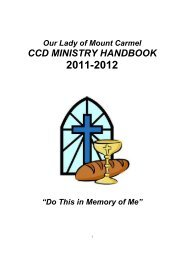 handbook 2011-2012 - Our Lady of Mount Carmel