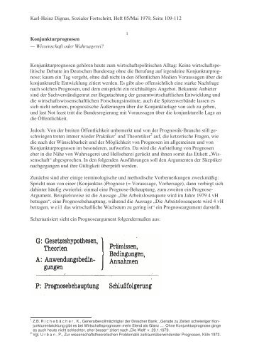 Konjunkturprognosen - Karl-Heinz Dignas