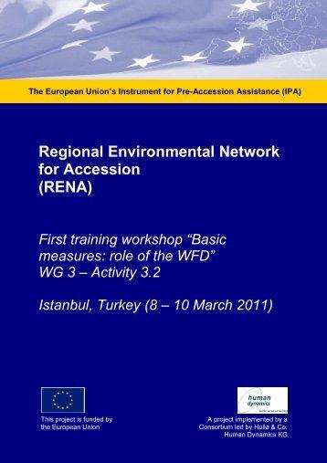 Workshop Report Water Management March 2011, Activity 3 ... - RENA