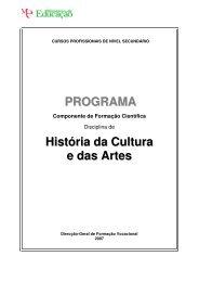 PROGRAMA História da Cultura e das Artes - IPTrans