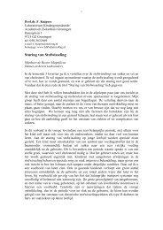 Sturing van Stofwisseling - Rijksuniversiteit Groningen