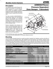 Model AVD Zone Dampers - Zone-All Controls