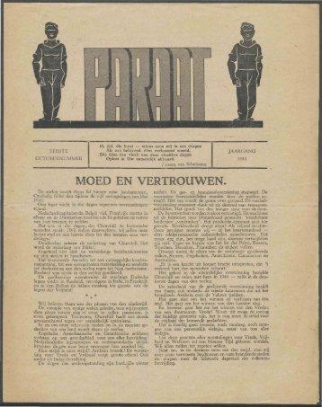 Paraat (1e oktober 1944) - Vakbeweging in de oorlog