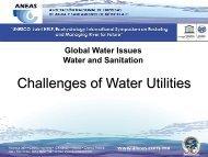 Los servicios de agua potable y saneamiento en las ... - Aneas