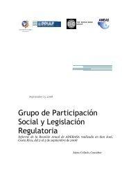 Grupo de Participación Social y Legislación Regulatoria - Aneas