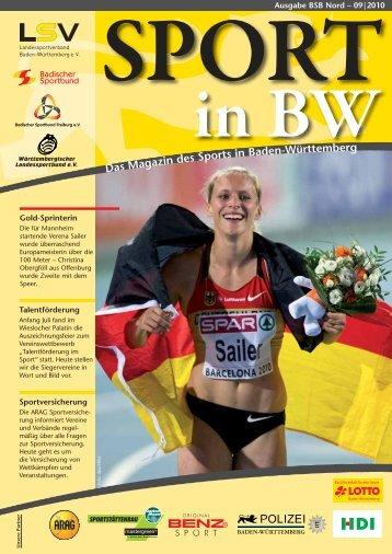 Sport in bw Nr. 09/10 - Badischer Sportbund Nord ev