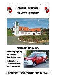 Freiwillige Feuerwehr St. Ulrich a. W. (0 bytes - Sankt Ulrich am ...