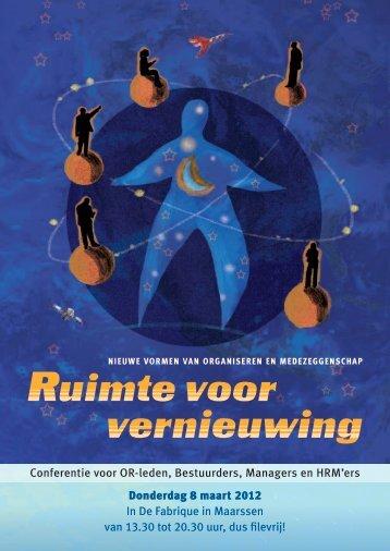 Conferentie voor OR-leden, Bestuurders, Managers en HRM'ers ...