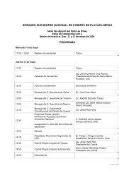 segundo encuentro nacional de comités de playas limpias ... - Aneas
