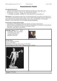 Handout referat 11 PLASTIK Klassizismus - Home - martin klinkner