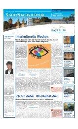 Bekanntmachung - Stadt Bayreuth