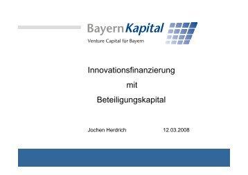 Later-stage- Phase Start-up-Phase Seed-Phase - Bayern Kapital