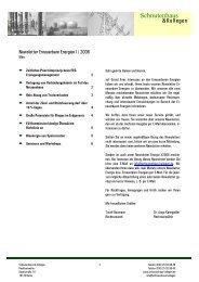 Newsletter Erneuerbare Energien I - 2006 - Schnutenhaus & Kollegen