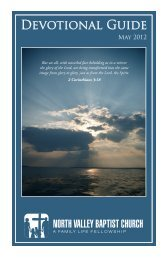 Download / Print - North Valley Baptist Church - Red Bluff, California