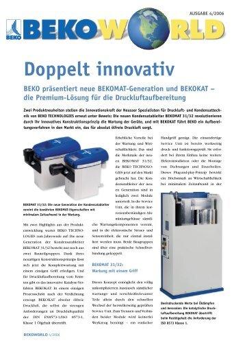 Doppelt innovativ - BEKO Technologies Gmbh