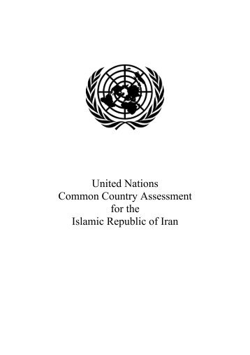 Common Country Assessment document of Islamic Republic of Iran