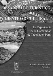 Desarrollo turístico e identidad cultural - Centro de Documentación ...